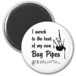 March to the Beat: Bag Pipes Refrigerator Magnet
