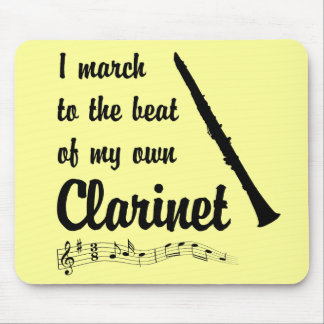 March to the Beat: Clarinet Mouse Pad