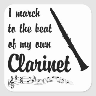 March to the Beat: Clarinet Square Sticker