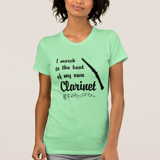 March to the Beat: Clarinet T Shirts