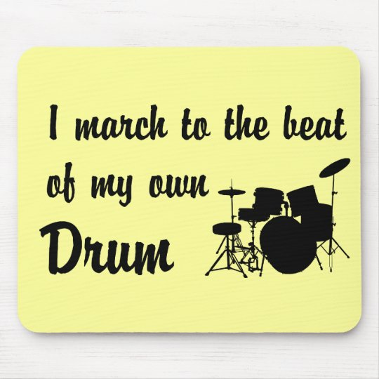 March to the Beat: Drum Mouse Pad