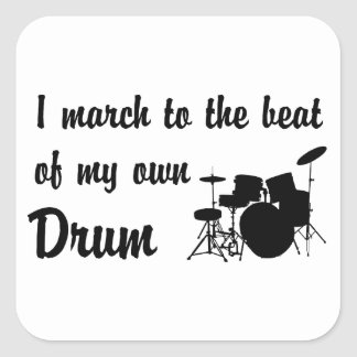 March to the Beat: Drum Square Sticker