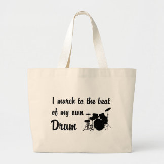 March to the Beat: Drums Canvas Bags