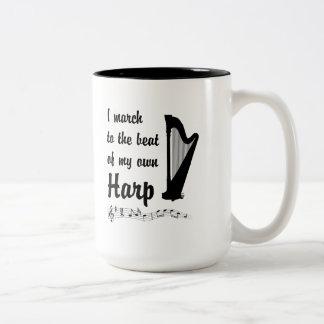 March to the Beat: Harp Two-Tone Coffee Mug