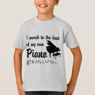March to the Beat: Piano T-Shirt