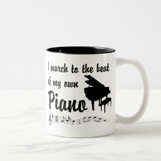 March to the Beat: Piano Two-Tone Coffee Mug