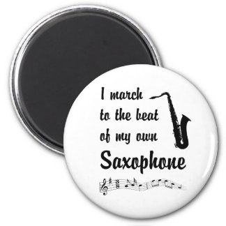 March to the Beat: Saxophone 2 Inch Round Magnet