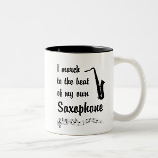 March to the Beat: Saxophone Two-Tone Coffee Mug