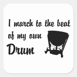March to the Beat: Timpani Square Sticker