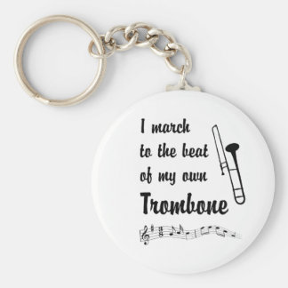 March to the Beat: Trombone Keychain