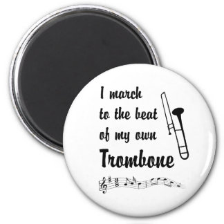 March to the Beat: Trombone Fridge Magnets