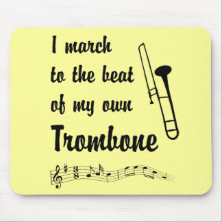 March to the Beat: Trombone Mouse Pad