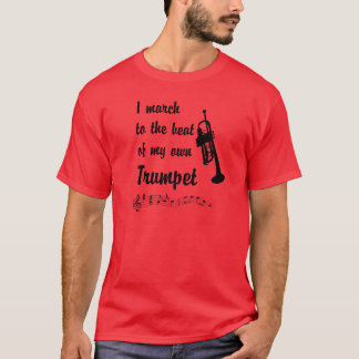 March to the Beat: Trumpet T-Shirt