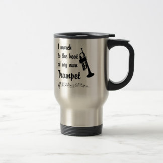 March to the Beat: Trumpet Travel Mug