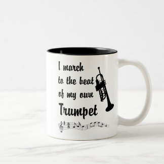 March to the Beat: Trumpet Two-Tone Coffee Mug