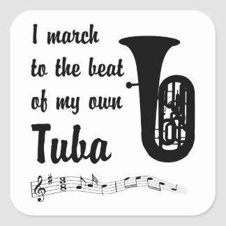 March to the Beat: Tuba Square Sticker