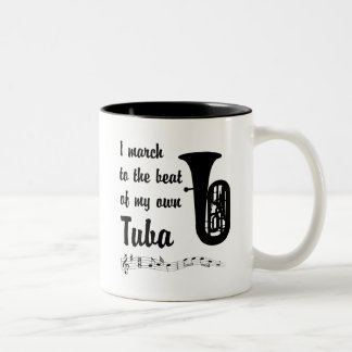 March to the Beat: Tuba Two-Tone Coffee Mug