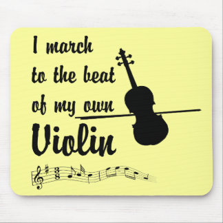 March to the Beat: Violin Mouse Pad