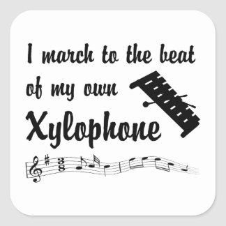 March to the Beat: Xylophone Square Sticker