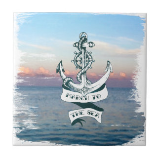 March To The Sea Ceramic Tile