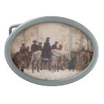 March to Valley Forge - William Trego  (1883) Oval Belt Buckles