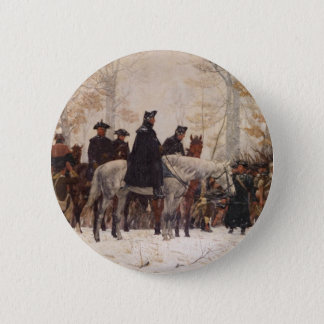 March to Valley Forge - William Trego  (1883) Button