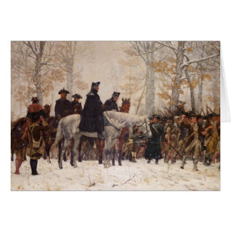 March to Valley Forge - William Trego 1883 Greeting Cards