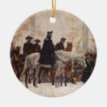 March to Valley Forge - William Trego  (1883) Double-Sided Ceramic Round Christmas Ornament
