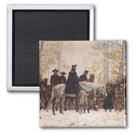 March to Valley Forge - William Trego  (1883) Magnet
