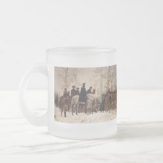 March to Valley Forge - William Trego  (1883) 10 Oz Frosted Glass Coffee Mug
