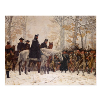 March to Valley Forge - William Trego  (1883) Postcard