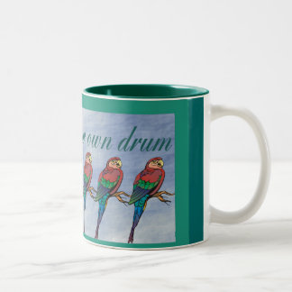 march to your own drum mug