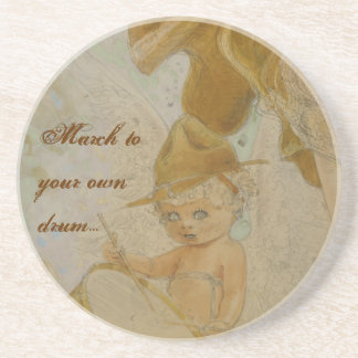 March to Your Own Drum Vintage Poster Coasters