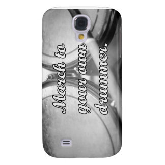 March to your own drummer tom background galaxy s4 case