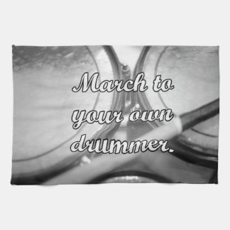 March to your own drummer tom background hand towels