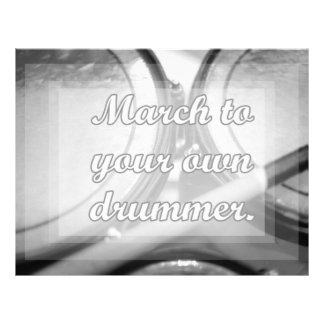 March to your own drummer tom background letterhead