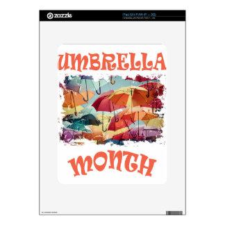 March - Umbrella Month - Appreciation Day Decals For iPad