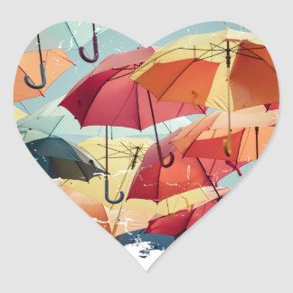 March - Umbrella Month - Appreciation Day Heart Sticker