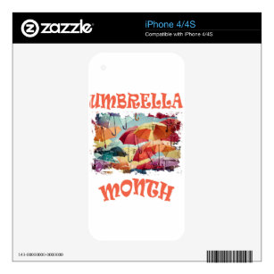 March - Umbrella Month - Appreciation Day iPhone 4 Decal