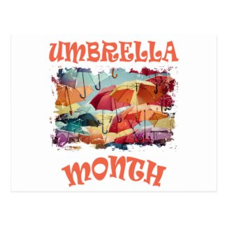 March - Umbrella Month - Appreciation Day Postcard