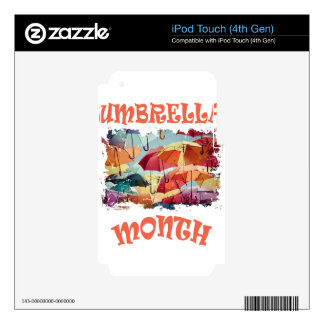 March - Umbrella Month - Appreciation Day Skins For iPod Touch 4G