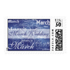 March Wedding In Blue Postage