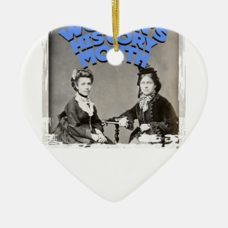 March - Women's History Month Ceramic Ornament