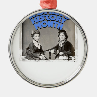 March - Women's History Month Metal Ornament