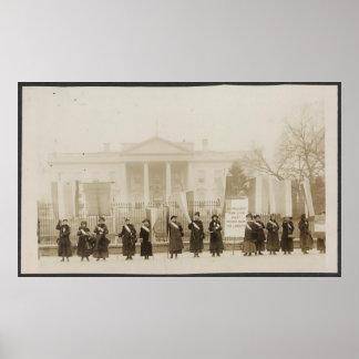 Marcha de los Suffragettes en Washington Póster