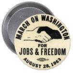 marcha en el botón de Washington 1963 Pins