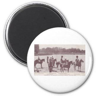 Marchando el color 1903 1 imán redondo 5 cm