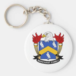 Marchant Family Crest Basic Round Button Keychain