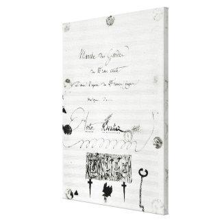 Marche des Gardes du Franc Comte' Stretched Canvas Prints