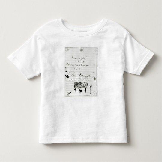 Marche des Gardes du Franc Comte' Toddler T-shirt